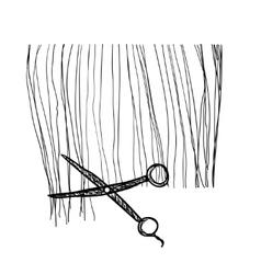 Hand drawn hairstyle Haircut vector image vector image