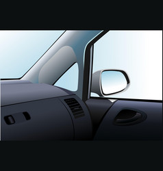 car dashboard and interior vector image