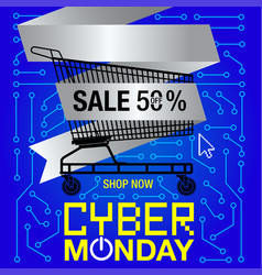 cyber monday sale banner vector image vector image