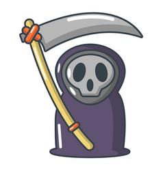 grim reaper icon cartoon style vector image