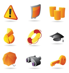 Icons for business security vector image vector image