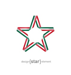 star with Mexico flag colors design element vector image vector image