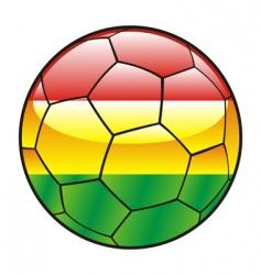 bolivia flag on soccer ball vector image vector image