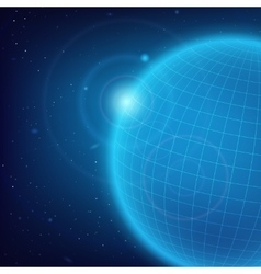Cosmic blue background vector image