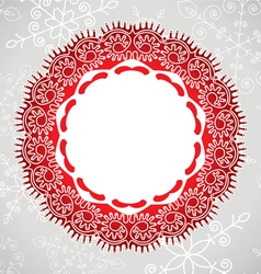 lace and snowflakes vector image vector image