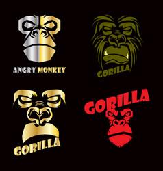 monkey sport logo vector image vector image