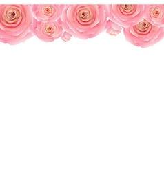 Pastel Pink Rose Border vector image vector image