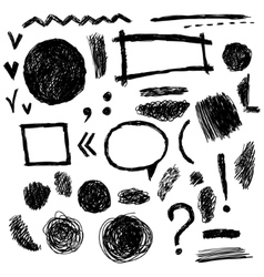 Set of grunge black vector image