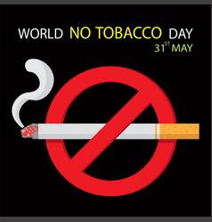world no tobacco day vector image vector image
