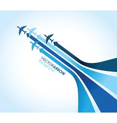blue planes vector image vector image