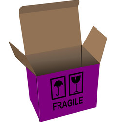 Carton opened box isolated over a white background vector