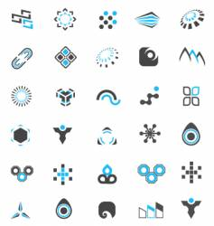 logo elements collection vector image vector image