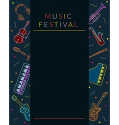 Music Instruments Objects Poster Frame vector image vector image