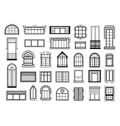 set with different vector image vector image