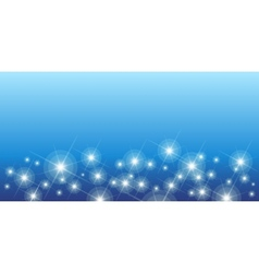 Shining stars on blue seamless horizontal pattern vector image
