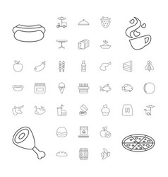 37 food icons vector