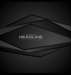 abstract black concept corporate background vector image