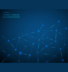 abstract of technology background in blue vector image
