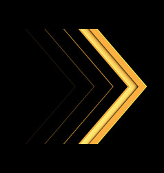 abstract yellow arrow direction on black vector image