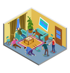 Alcoholism isometric composition vector