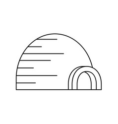 arctic igloo icon outline style vector image