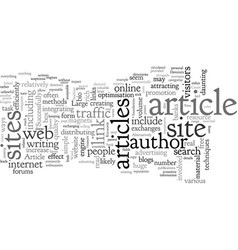 Article directory sites vector