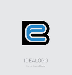 b and e initial logo be initials monogram vector image