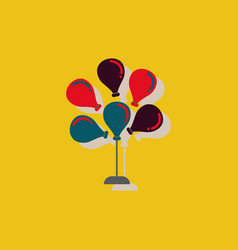 Balloons icon in sticker style vector