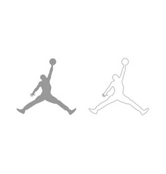 Basketball player set icon vector