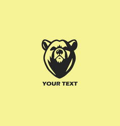 Bear logo template design vector