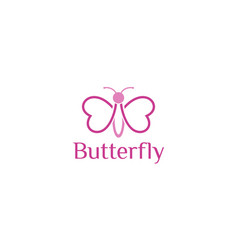 Beautiful butterfly for logo design vector