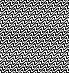 Black and white wave pattern vector