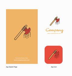 Bloody axe company logo app icon and splash page vector