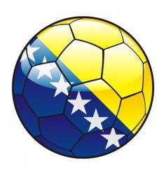 Bosnia and Herzegovina flag on soccer ball vector image