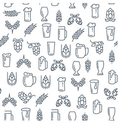 brewing monochrome seamless pattern vector image