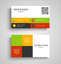 Business card with colored squares template vector