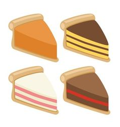 cake collection vector image