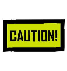 Caution sticker stamp vector