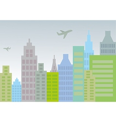 City with planes vector image