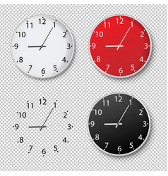 clock set isolated transparent background vector image