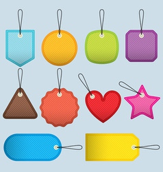Cloth tags vector