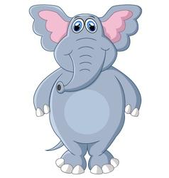 Cute elephant cartoon posing vector image