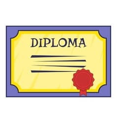 Diploma icon cartoon style vector image