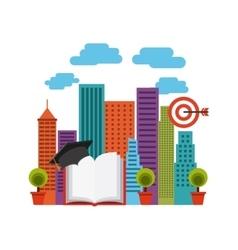 Distance education design vector