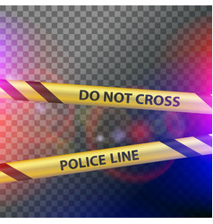 Do not cross police line vector