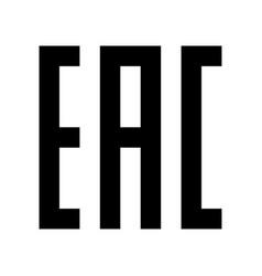 Eac sign mark symbol vector
