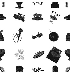Event service pattern icons in black style Big vector