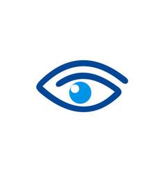 Eye abstract vision logo vector