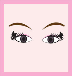 eyes vector image