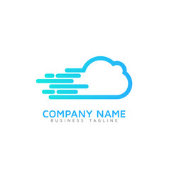 fast cloud logo icon design vector image